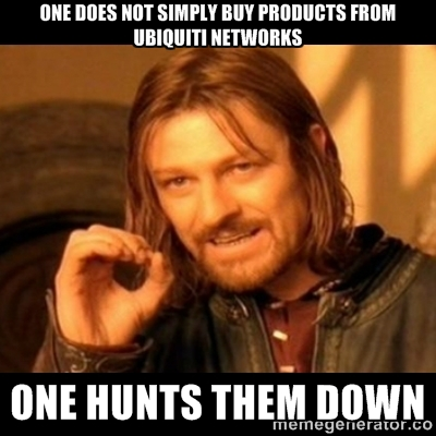 Boromir's take on buying Ubiquiti